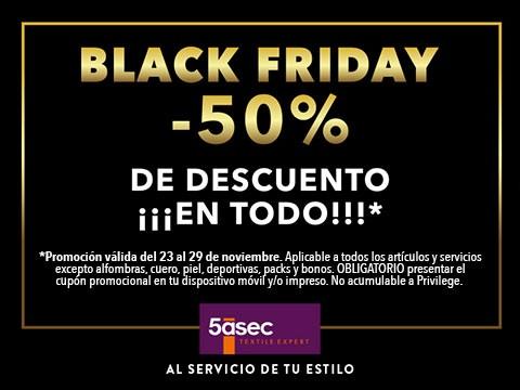 Black Friday -50% ¡En todo!